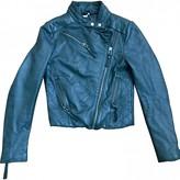 IRO Fall Winter 2018 Blue Leather Jackets