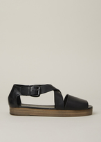 Marsèll Black/Natural Gradone Wedge Sandal