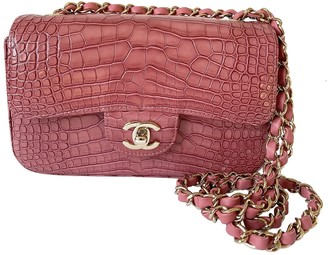 Chanel Timeless/Classique Pink Crocodile Handbags