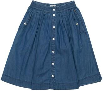 Molo Cotton Chambray Midi Skirt