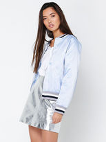 Glamorous New Oriental Embroidered Bomber Jacket In Blue Womens Jackets