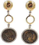 One Kings Lane Vintage 1980s Valentino Roman-Coin Earrings
