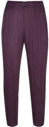 Pleats Please Issey Miyake pleated pull-on trousers