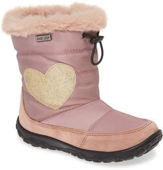 Naturino Sylva Glitter Heart Faux Fur Trim Waterproof Boot