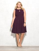 dressbarn Keyhole Fit-and-Flare Dress Plus