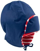 Jo-Jo JoJo Maman Bebe Fleece Lined Tie Hat (Toddler/Kid) - Navy-3-5 Years