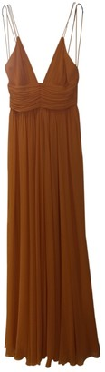 Jenny Packham Orange Silk Dresses