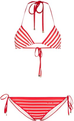 Valentino Stripe Triangle Bikini Set