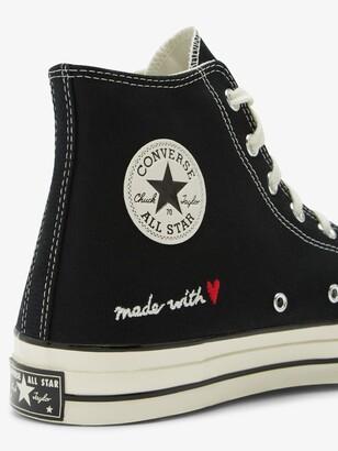 Converse Black Love Thread Chuck 70 High Top Sneakers