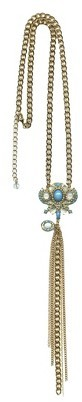 """Tanya Creations, Inc. Women's Fashion Necklace - Gold/Turquoise/White(28"""")"""