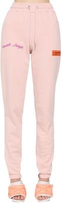 Heron Preston Cotton Sweatpants W/ Patches