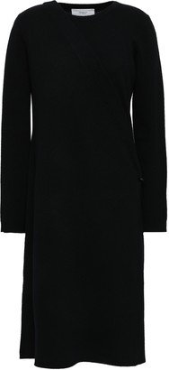 Pringle Wrap-effect Wool And Cashmere-blend Midi Dress