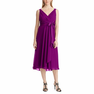 Chaps Women's Georgette Fit-and-Flare Dress
