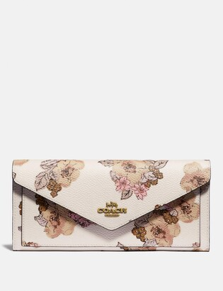 Coach Soft Wallet With Floral Bouquet Print