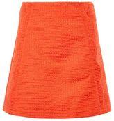 Topshop Textured scallop pelmet skirt