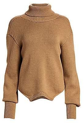 Monse Women's Upside-Down Merino Wool Knit Sweater