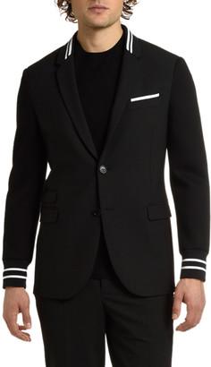 Neil Barrett Men's Knit-Trim Two-Button Jacket