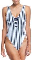 Splendid Tie-Dye Stripe One-Piece Swimsuit