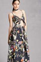 Forever 21 FOREVER 21+ Floral Crop Top and Skirt Set