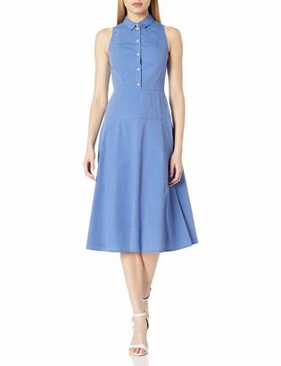 Armani Exchange A X Women's Collared Button Up Sleeveless Midi Dress