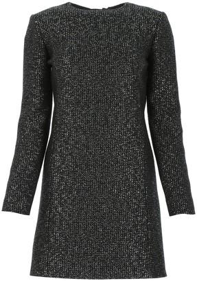 Saint Laurent Sequins Open Back Mini Dress