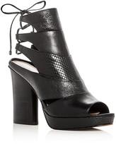Donald J Pliner Juno Leather High Heel Platform Sandals