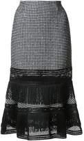 Jonathan Simkhai fluted hem skirt