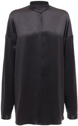 Haider Ackermann Silk Satin Oversized Shirt