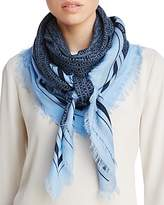 Tory Burch Logo Oversized Square Scarf
