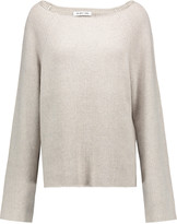 Helmut Lang Oversized ribbed cotton and cashmere-blend sweater