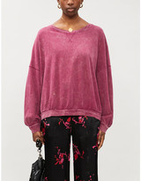 Free People Boat-neck cotton-jersey jumper