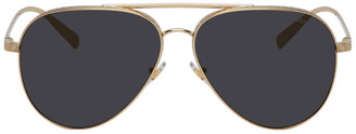 Versace Gold Greca Aviator Sunglasses