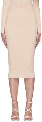 Jonathan Simkhai 'GREER' Rib Pencil Skirt