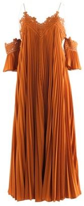 Self-Portrait Self Portrait Orange Polyester Dresses