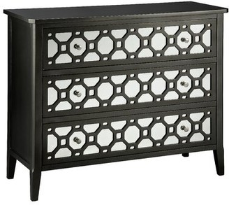 House Of Hamptonâ® Luton 3 Drawer Mirrored Accent Chest House of HamptonA