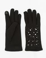 Le Château Jewel Embellished Knit Tech Gloves