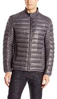 Andrew Marc Men's Duane Packable Down Moto Jacket