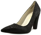 Anne Klein Hollyn Women Pointed Toe Leather Black Heels.