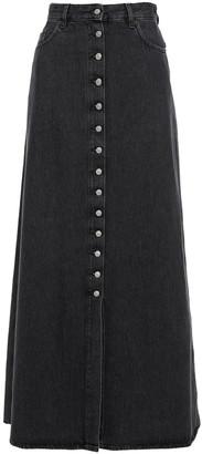 MM6 MAISON MARGIELA Distressed Denim Maxi Skirt