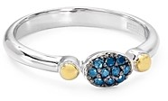 Bloomingdale's Marc & Marcella Diamond & Black or Blue Diamond Ring in Sterling Silver & Gold-Plated Sterling Silver - 100% Exclusive
