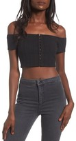 Privacy Please Women's Lenda Off The Shoulder Crop Top