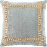 Dian Austin Couture Home Willette Velvet Boutique Pillow with Braid