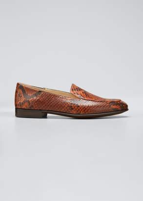Gravati Flat Python Smoking Loafers
