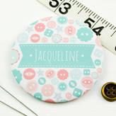 Joanne Hawker Personalised Button Pocket Mirror