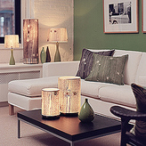 Meridian Medium Table Lamp With Silk Shade