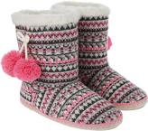 Accessorize Naomi Fairisle Slipper Boots
