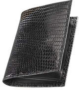 Neiman Marcus Lizard Business Card Case, Black