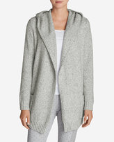 Eddie Bauer Women's Sleep Sweater Hooded Cardigan