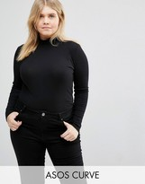 Asos Turtleneck Top With Space Dye