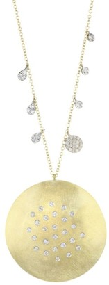 Meira T 14K Yellow Gold & Diamond Disc Pendant Necklace